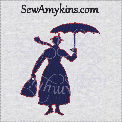 8844af94fdebe Mary Poppins silhouette Bert chimney sweep machine embroidery designs for  shirt logo