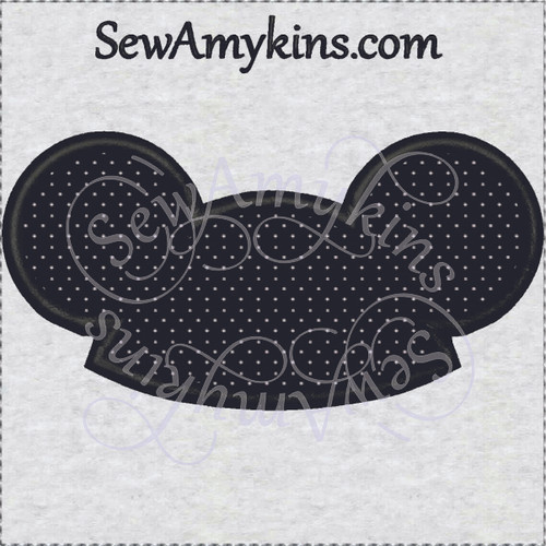 Mickey mouse hat ears applique machine embroidery mouseketeer