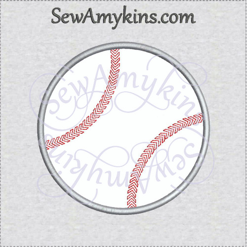 baseball applique machine embroidery base ball softball