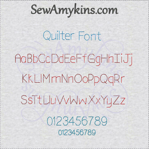 quilt font embroidery design alphabet letters numbers straight stitch