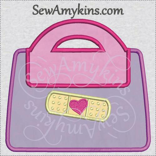 doctor bag medical applique embroidery bandaid heart