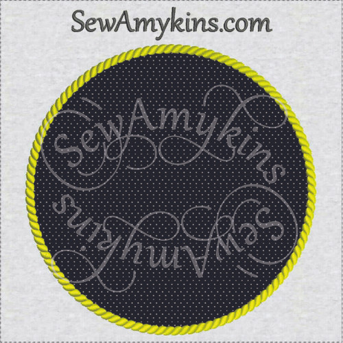 rope circle frame nautical applique embroidery design border