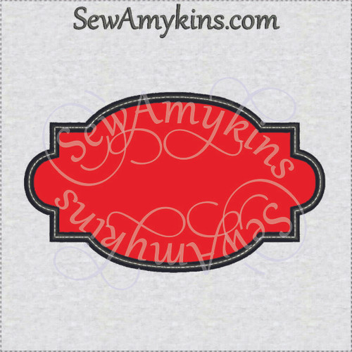 frame 1 applique machine embroidery design border