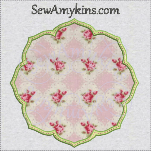 frame 5 applique hibiscus flower machine embroidery design