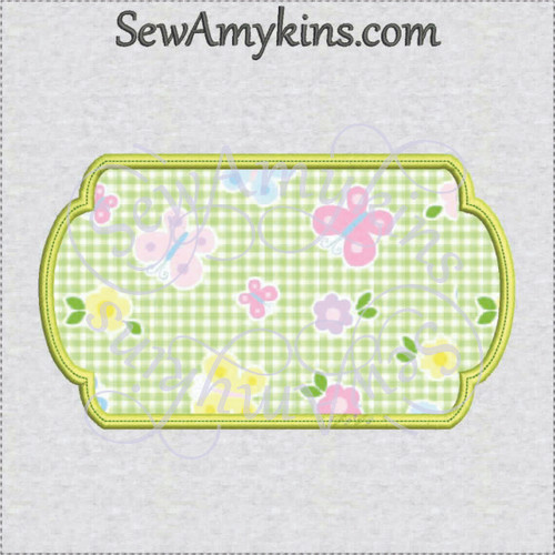 frame 7 applique machine embroidery design border