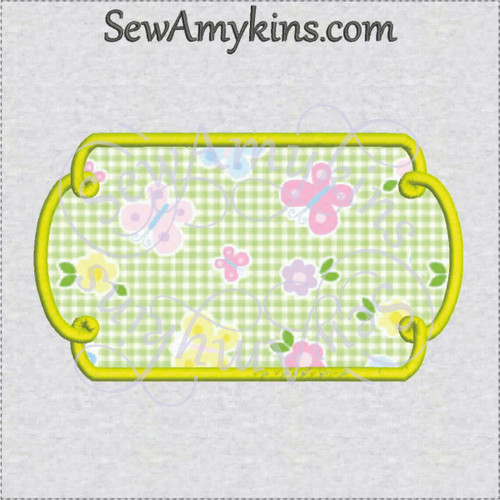frame 7 loopy applique machine embroidery design border