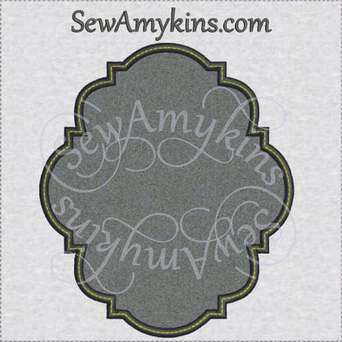 frame 21 applique intricate machine embroidery design