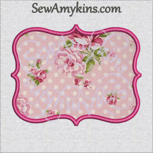 frame 35 applique machine embroidery design border
