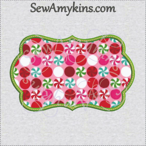 frame 39 applique machine embroidery design border