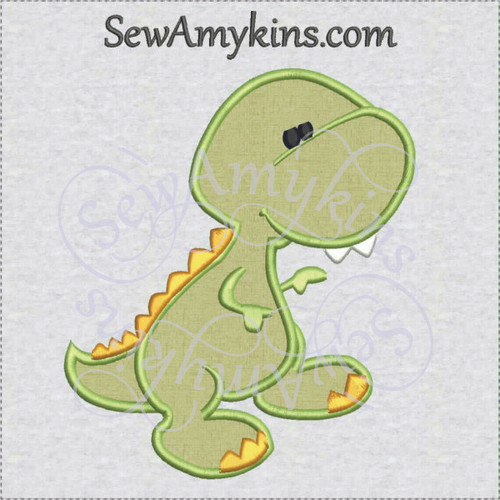 dinosaur baby applique machine embroidery design dino birthday boy