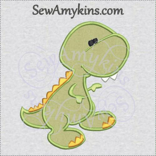 dinosaur baby applique machine embroidery design dino birthday boy