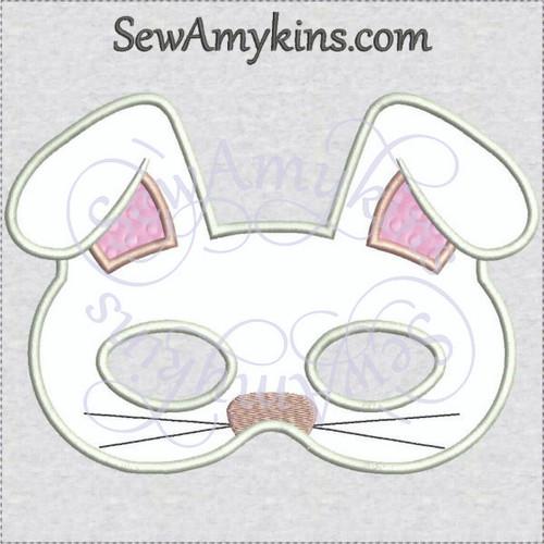 Bunny Mask Halloween applique machine embroidery design rabbit