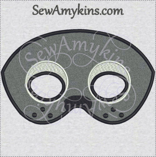 Seal mask Halloween applique machine embroidery design face