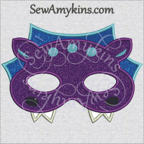 Dragon mask Halloween applique machine embroidery design face