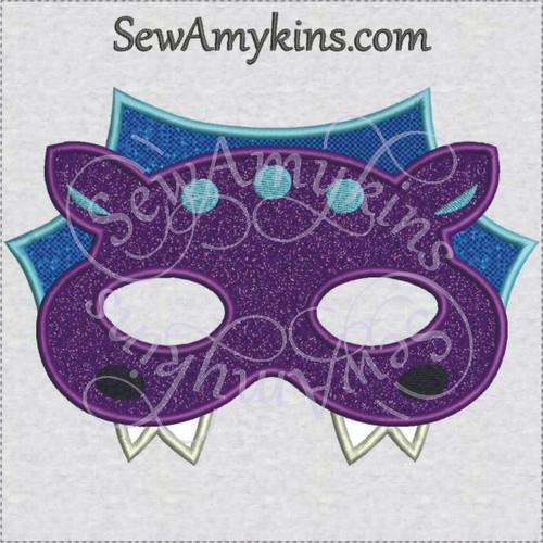 Dragon mask Halloween applique machine embroidery design face