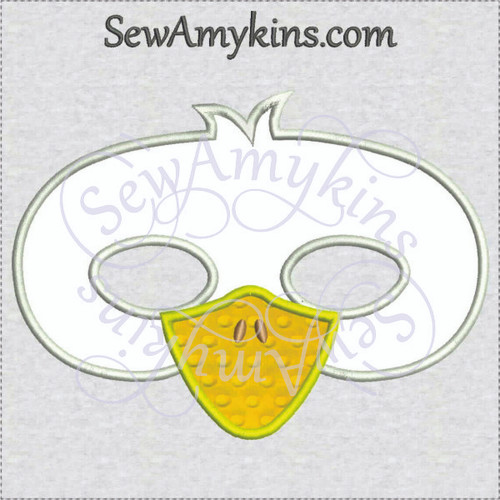 Duck mask Halloween face applique machine embroidery design