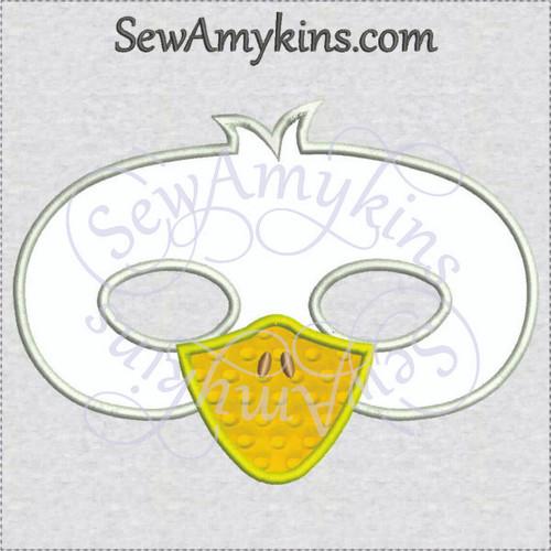 Duck mask Halloween face applique machine embroidery design