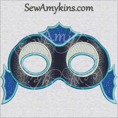 Fish mask face Halloween applique machine embroidery design