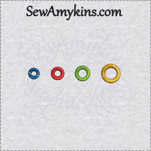 Buttonhole eyelet round circle machine embroidery design button hole