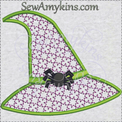 Witch Hat looks like lace spider Halloween machine embroidery design spider