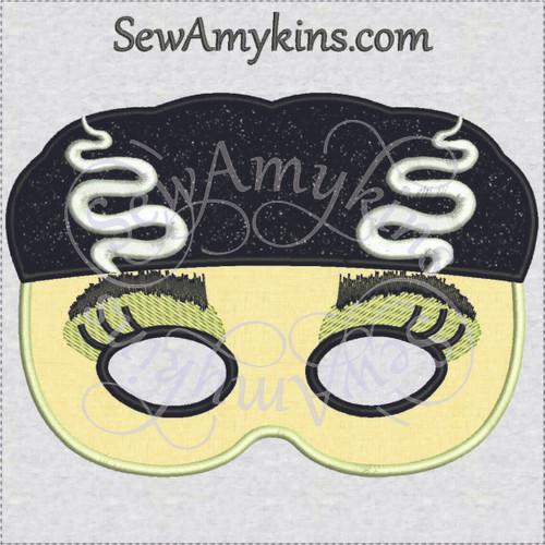 Bride of Frankenstein Halloween monster mask applique machine embroidery