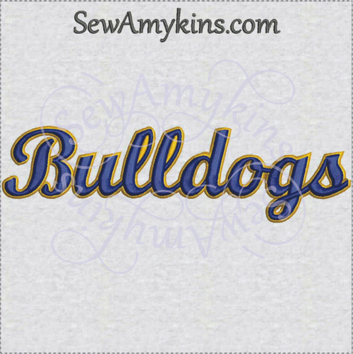 Bulldogs bulldog team name sports machine embroidery design