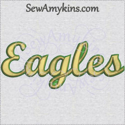 Eagles eagle team name sports machine embroidery design