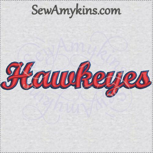 Hawkeyes hawkeye team name sports machine embroidery design