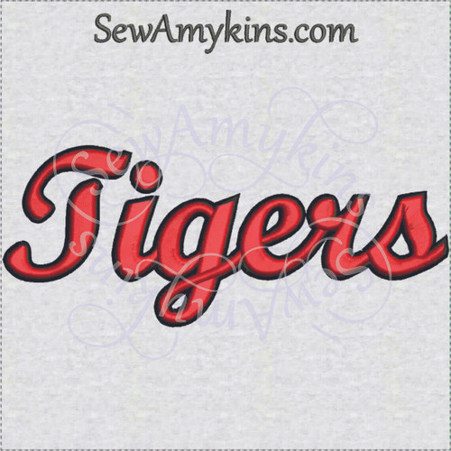 Tigers tiger team name sports machine embroidery design