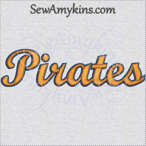 Pirates pirate team name sports machine embroidery design