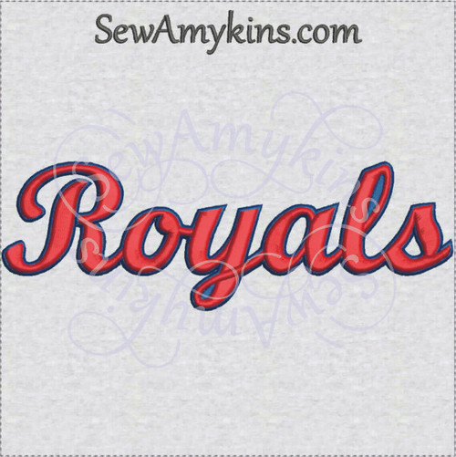 Royals royal team name sports machine embroidery design