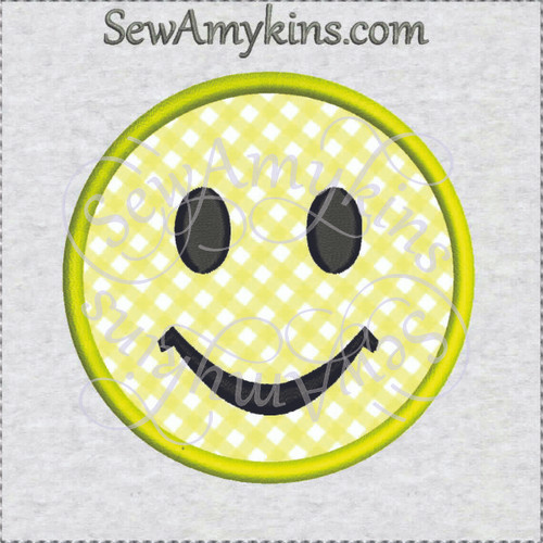 smile face smiley applique machine embroidery design free