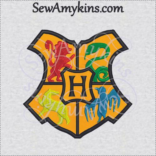 Hogwarts applique Gryffindor Slytherin logo