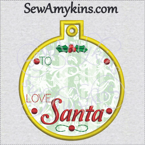 round gift tag ornament for personalizing