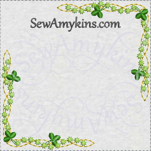 shamrock corners dainty machine embroidery design