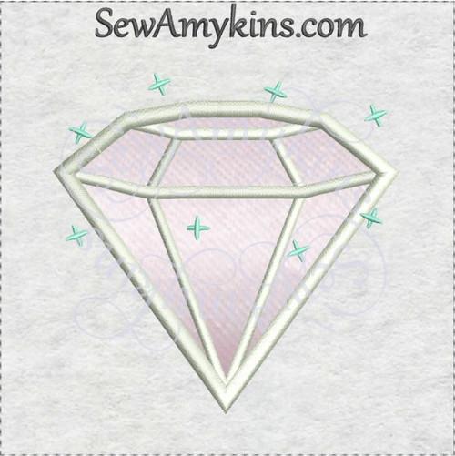 diamond jewel gem applique machine embroidery design