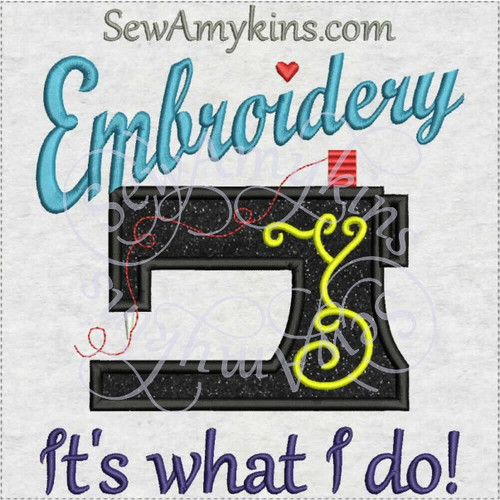 embroidery it's what I do sewing machine applique embroidery