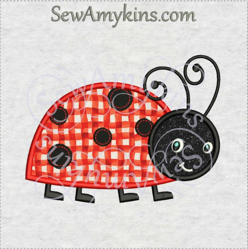 ladybug applique machine embroidery design lady bug cute
