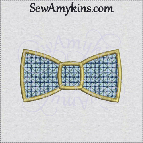 bow tie applique machine embroidery design bowtie