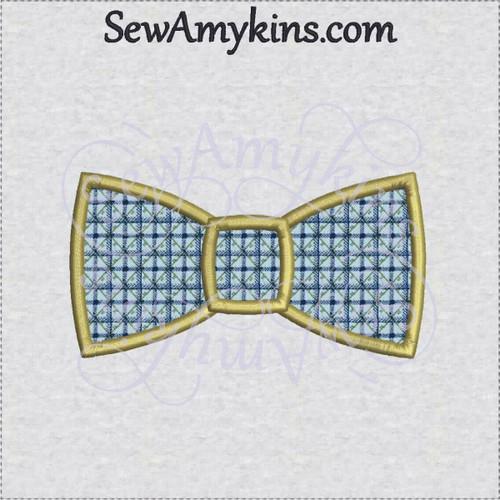 bow tie applique machine embroidery design bowtie