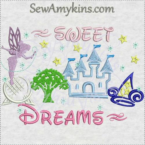 sweet dreams Tinkerbell WDW logos Magic Kingdom Epcot Animal Disney Hollywood