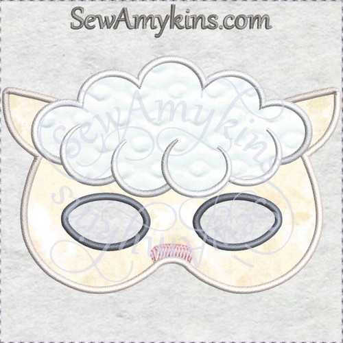 lamb sheep mask halloween applique machine embroidery