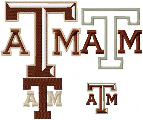 Texas A&M Aggies SMALL designs for 4x4 hoop