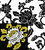 damask rose embroidery design made from actual fabric scan