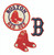 boston red sox baseball applique B socks machine embroidery designs