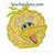 Big Bird applique face embroidery design