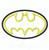 Batman applique embroidery design