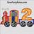 birthday train 2nd second applique embroidery design 2 engine boy