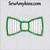 bow tie applique 2 step fabrics machine embroidery design bowtie