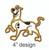Scooby Doo applique embroidery design